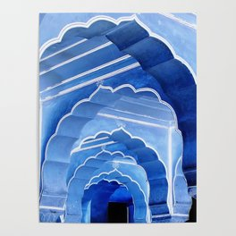 Amber Fort Arches Blue Mood Poster