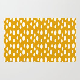 Yellow pattern with white spots Rug