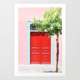 223. Red Door, Greece Art Print