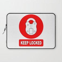 Keep Locked Padlock Sign Laptop Sleeve