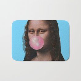 Mona Lisa (Leonardo da Vinci) with Bubblegum Bath Mat