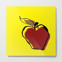 STATIONERY CARD - Apple for Teacher Metal Print