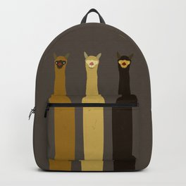 Triple LLAMAS ALPACAS CAMELS - Dark Backpack