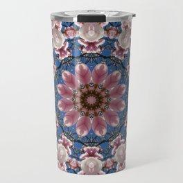 Spring blossoms, Nature Flower Mandala, Floral mandala-style Travel Mug
