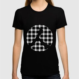 Plaid Dark Black Person T-shirt