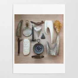 A Compass and Antlers and Artifacts, OH MY! Poster
