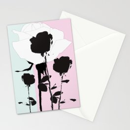 Roses with ink Stationery Cards