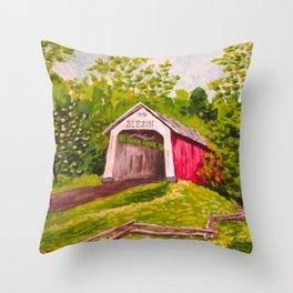 Beeson Bridge Throw Pillow