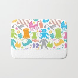 seamless pattern with baby icons Bath Mat