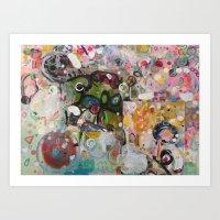 collage of mind Art Print