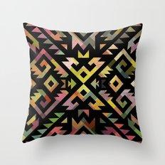Aztec pattern tribal Throw Pillow