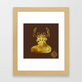 Ilvermorny Horned Serpent Framed Art Print