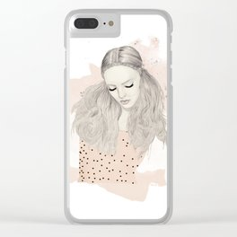 Pink Top Clear iPhone Case