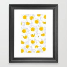 Daisy cluster Framed Art Print
