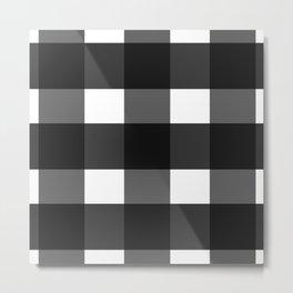 Black checkered pattern Metal Print