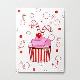 Festive Cupcake Metal Print