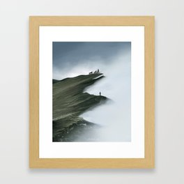 Foggy Landscape Digital Painting Framed Art Print