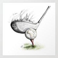 golf Art Prints featuring  Golf  by Eyad Shtaiwe