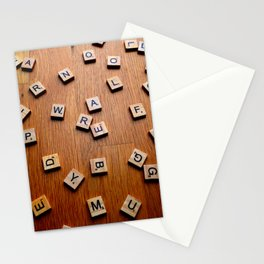 Scrabble letters Stationery Cards
