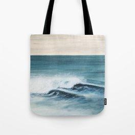 Surfing big waves Tote Bag
