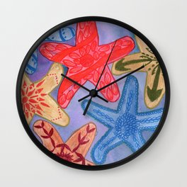 Ornamental Starfish Wall Clock