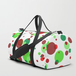 Numerous bubbles of different sizes of Christmas colors Duffle Bag
