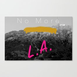 No More Parties in L.A. Canvas Print