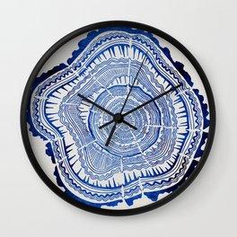 Growth Rings – 65 Years – Navy Wall Clock