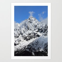 Mountain with snow Art Print