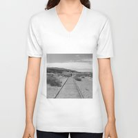 journey V-neck T-shirts featuring Journey by Casey Sprau