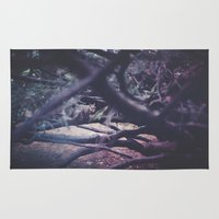 squirrel Area & Throw Rugs featuring Squirrel by Neon Wildlife