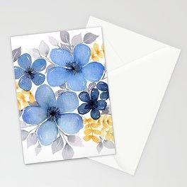 Meraki Blue Floral Bunch Stationery Cards
