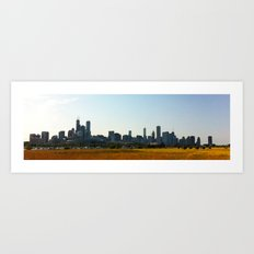 View of Chicago from Northerly Island Art Print