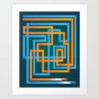 Tron Tracks Art Print