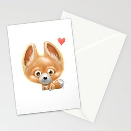 Super cute baby fox kawaii perfect for all animal lovers! Stationery Cards