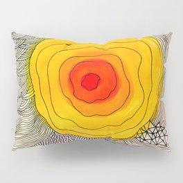 abstract sun flower Pillow Sham