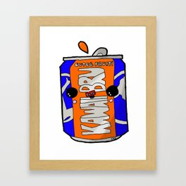 Kawaii Bru (Irn-Bru) Drink Can Glasgow  Framed Art Print
