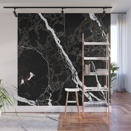 Abstract black white gray modern marble Wall Mural