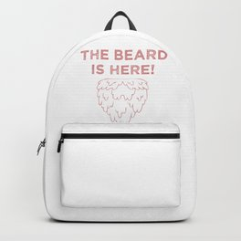 The Beard Is Here! (Red) Backpack