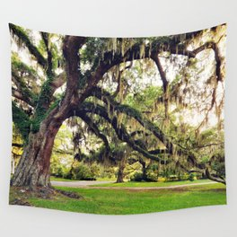 Live Oak Tree with Spanish Moss Wall Tapestry