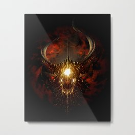 Let Rise the Inferno Metal Print