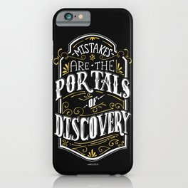 Lab No. 4 - Mistakes are the portals of discovery - James Joyce Corporate Startup Quotes Poster iPhone Case