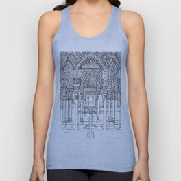 Alhambra palace, Granada, Andalucia - Spain-Black & White Unisex Tank Top