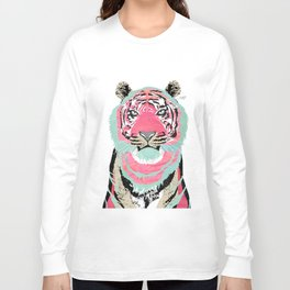 Pink Tiger Collage Long Sleeve T-shirt