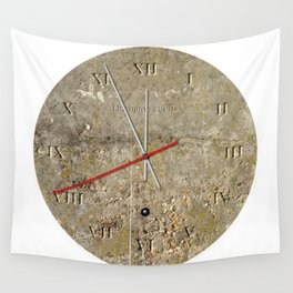 Concrete Clock 01 Wall Tapestry