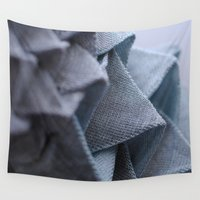 origami Wall Tapestries featuring Origami by Sasha Hocking / Adam Phillips