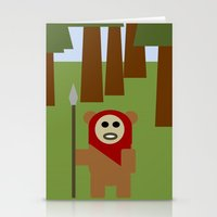 ewok Stationery Cards featuring Wicket the Ewok- Tree Hugger by Robin Stevens