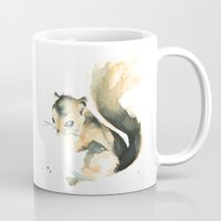 squirrel Mugs featuring Squirrel by Cat Graff