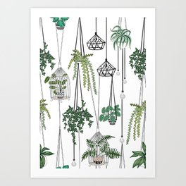 hanging pots pattern Art Print