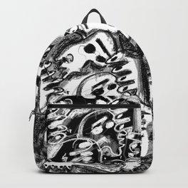 Break Apart - b&w Backpack